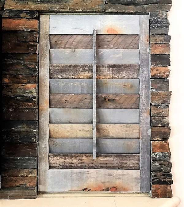 Kingsport reclaimed wood shutter