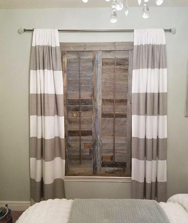 Kingsport reclaimed wood shutter bedroom