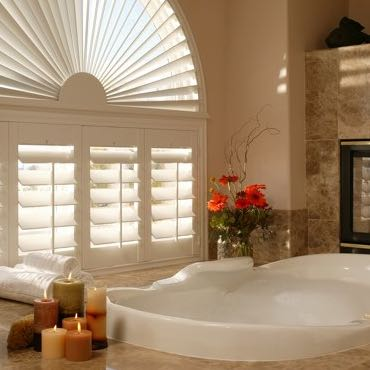 Kingsport bathroom privacy shutters.