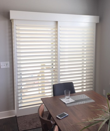 Kingsport modern sliding door shutters