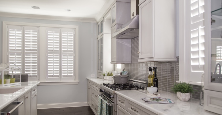 Kingsport kitchen white shutters