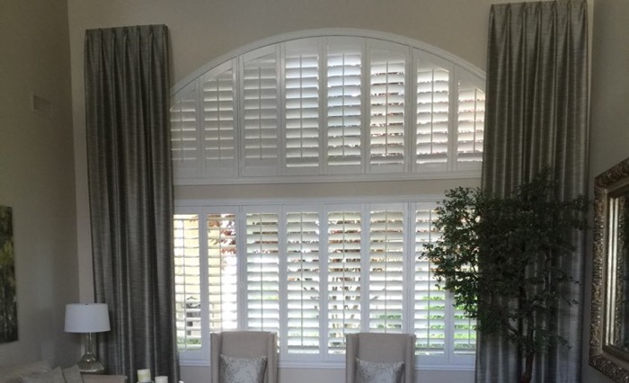 Kingsport drapes and shutters.