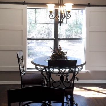 Kingsport dining room sliding barn doors.