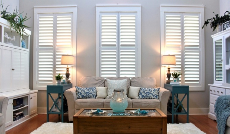 Kingsport designer home with plantation shutters