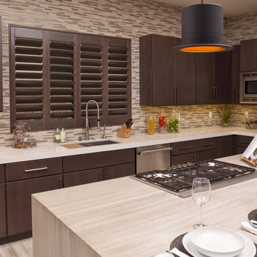 Ovation shutters in kitchen