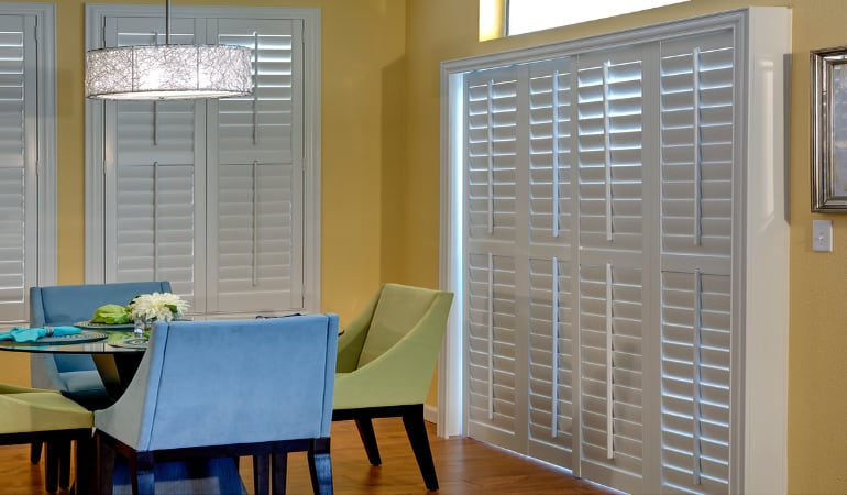 Patio Doors with Plantation Shutters in Kingsport