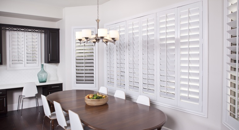 classic shutters in Kingsport dining room