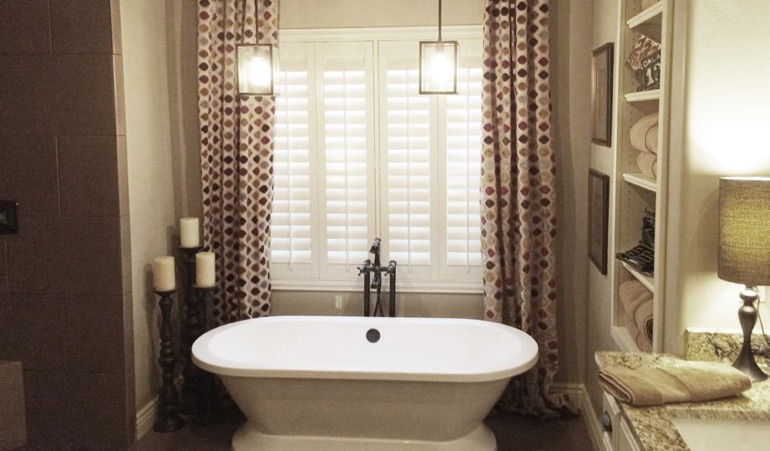 Polywood Shutters in Kingsport Bathroom
