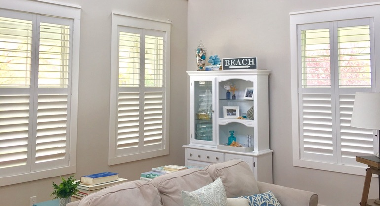 Polywood shutters in Kingsport sunroom
