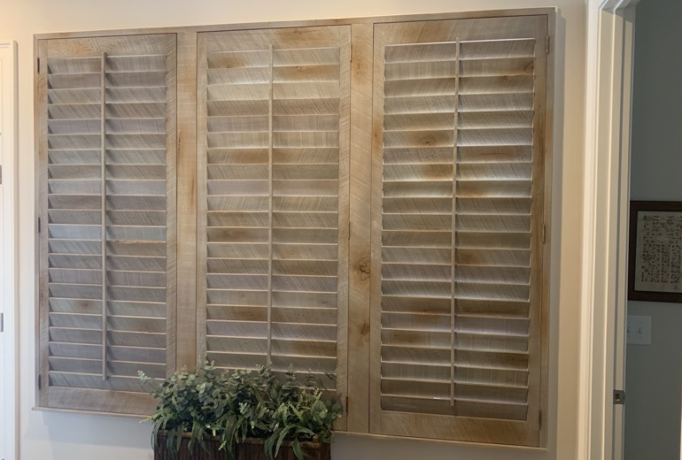 Closed reclaimed wood shutters in Kingsport