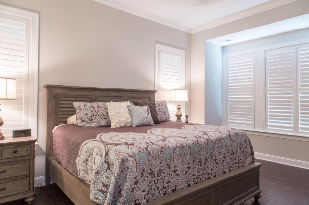 Kingsport bedroom with light block shutters