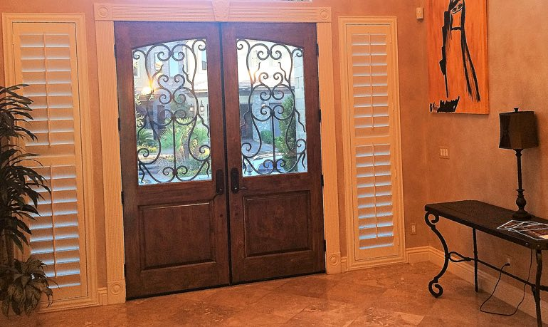 Kingsport foyer door with shutters