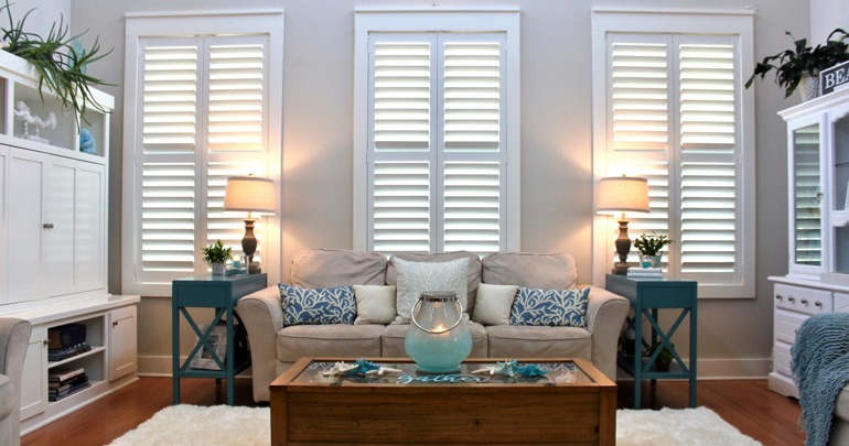 Kingsport lounge indoor shutters