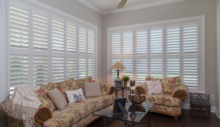 Kingsport sunroom indoor shutters