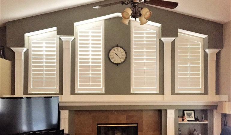 Polywood Shutters in Family Room in Kingsport
