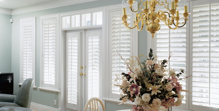 Kingsport sunroom polywood shutters