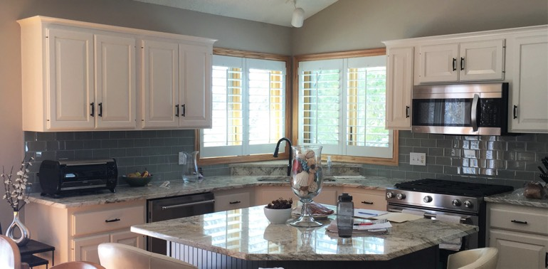 Kingsport kitchen with shutters and appliances