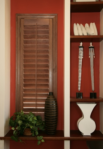 Kingsport wood shutter shelving