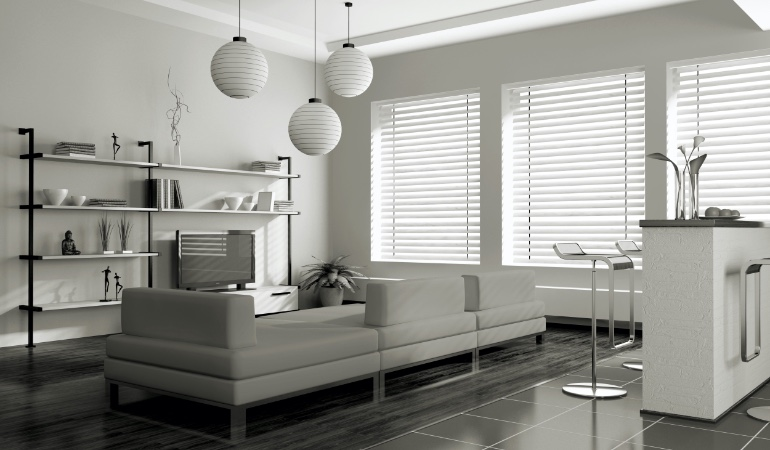 white blinds in Kingsport