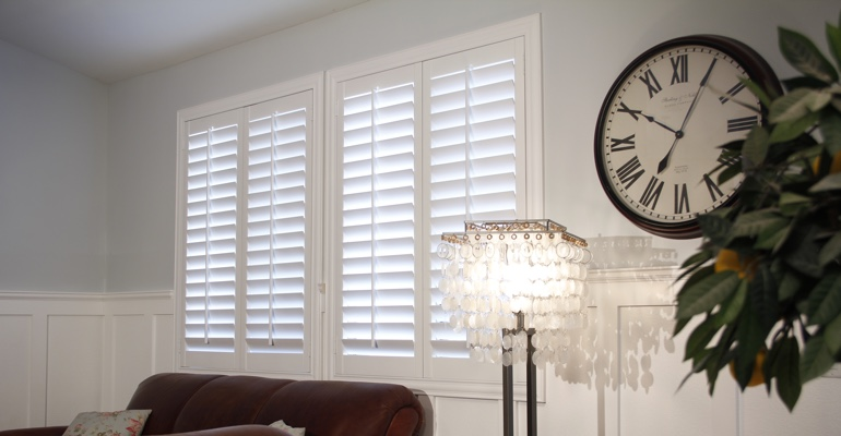 Kingsport living room indoor shutters
