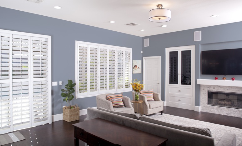 Plantation Shutters In A Kingsport Living Room.