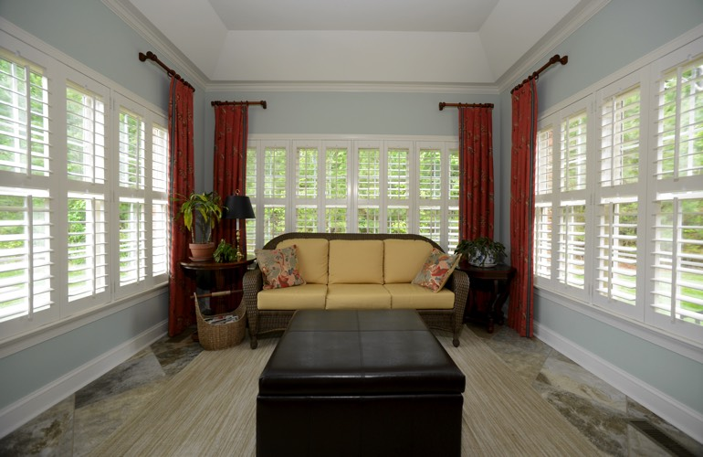 Plantation Shutters In A Kingsport Sunroom
